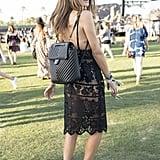 Chiara Ferragni wearing a Chanel backpack.