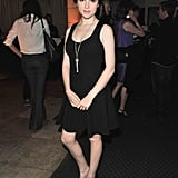 Anna Kendrick wore a black dress to a InStyle and HFPA party.