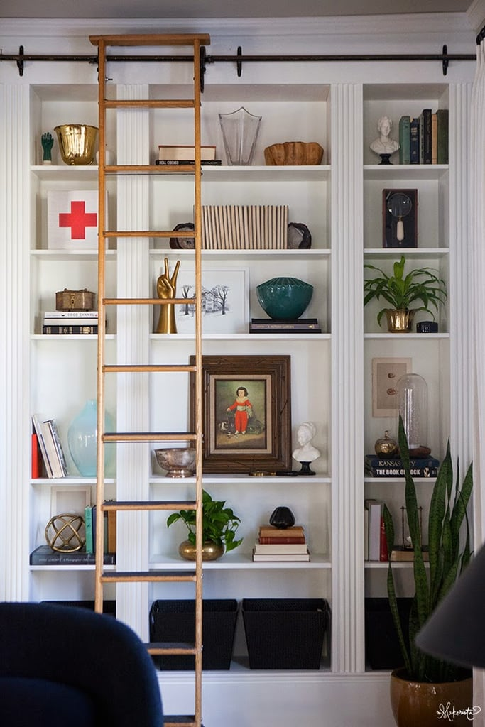 create custom built ins from ikea bookcases popsugar home - Ikea Built In Bookshelves