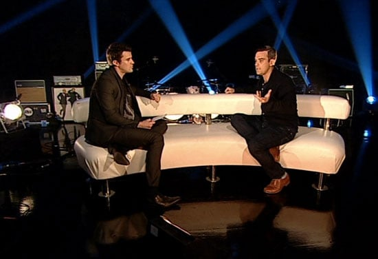 Photos of Robbie Williams and Steve Jones on 4Music Special, Robbie Williams Inspired By Michael Jackson's Death