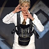 Host Ellen DeGeneres brought on the laughs on stage.