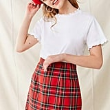 Urban Renewal Vintage Plaid A-Line Skirt