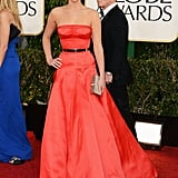 Golden Globe winner Jennifer Lawrence looked classically gorgeous in Dior.