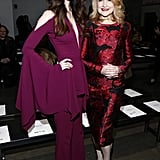 Lydia Hearst and Patricia Clarkson at Pamella Roland Fall 2019