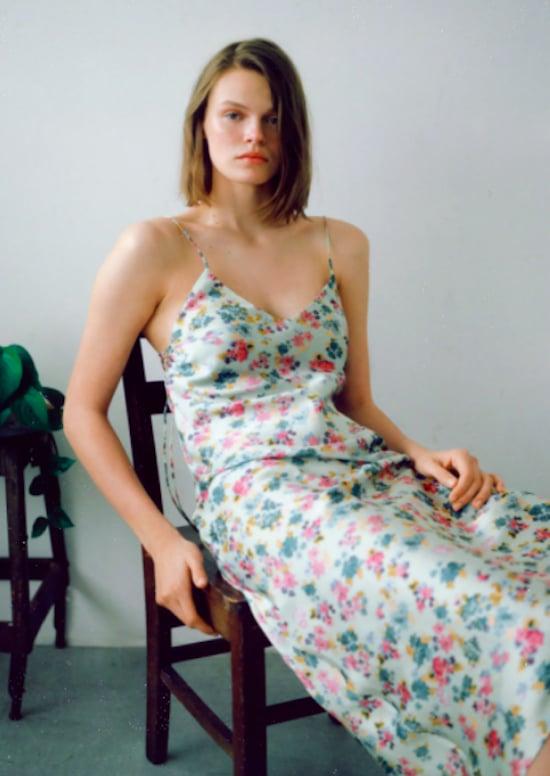Zara Side-Ruching Printed Dress