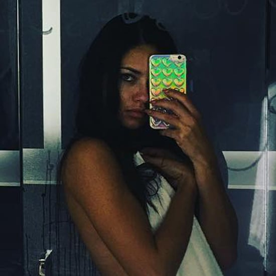 Adriana Lima's Nearly Nude Bathroom Selfie September 2016