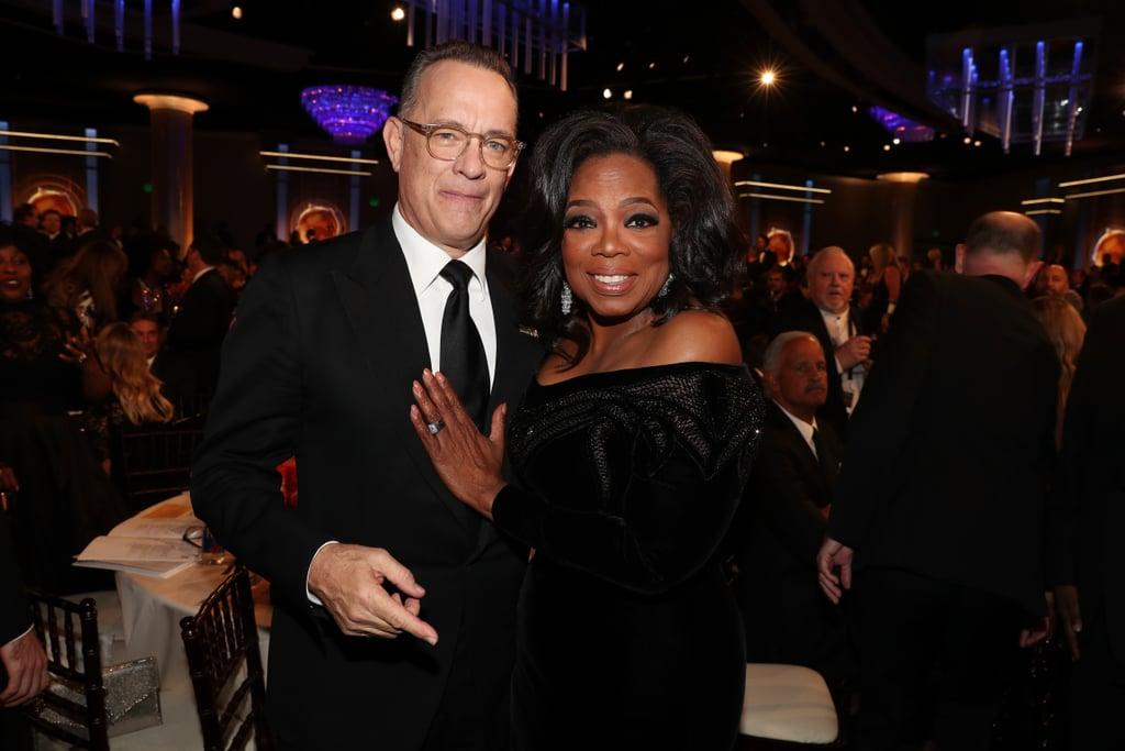 Pictured: Tom Hanks and Oprah Winfrey