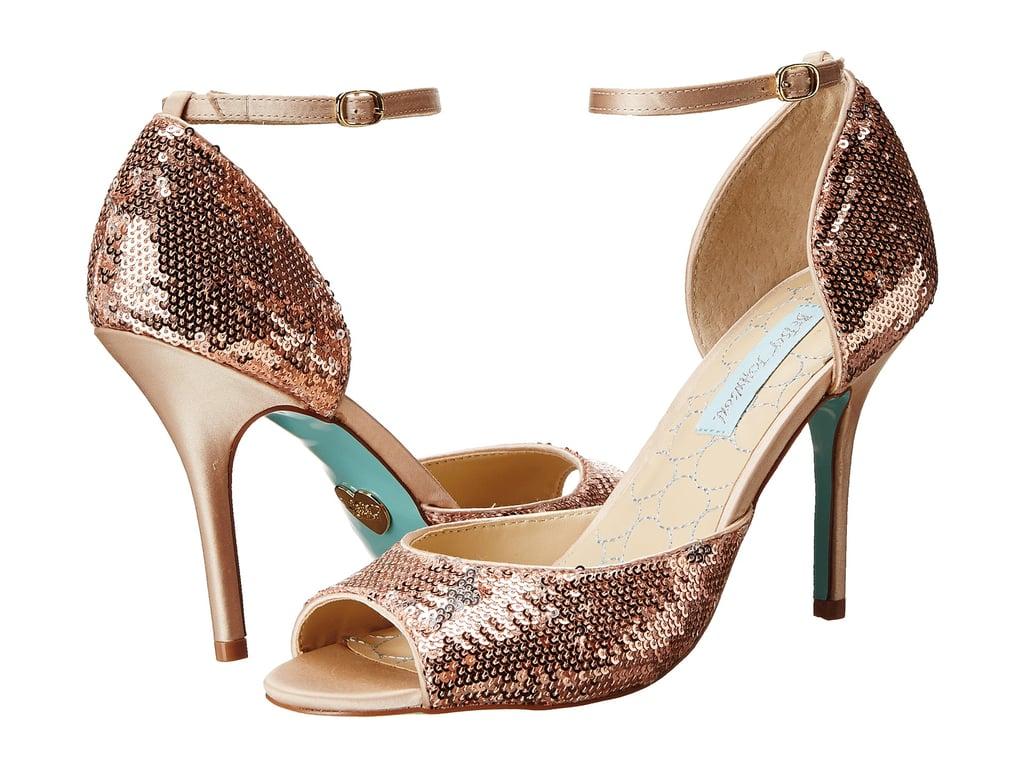 Betsey Johnson Sequined Heels
