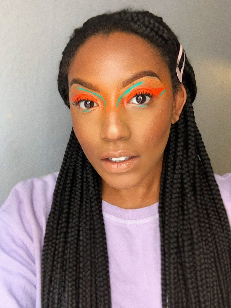 Look #2: Neon Orange and Blue Liners