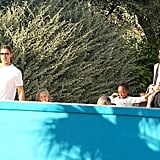 Brad Pitt and Angelina Jolie took their kids to a water park in Malta.