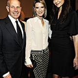Katie Holmes, Jon Tisch, and Lizzie Tisch smiled at the Museum of Modern Art Film Benefit in NYC.