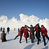 The park is a popular Winter destination in China.