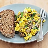 Mushroom and Goat Cheese Scramble