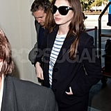 Adam Shulman and Anne Hathaway walked into LAX.