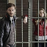 Jamie Dornan and Jennifer Morrison on ABC's Once Upon a Time.  Photo copyright 2011 ABC, Inc.