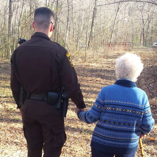 Police Officers Help Woman With Dementia