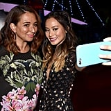 Jamie Chung and Maya Rudolph snapped a selfie at the Tuesday night premiere of Big Hero 6 in LA.