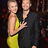 Julianne Hough kept close to Ryan Seacrest while celebrating the LA premiere of Rock of Ages in June 2012.
