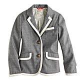 J.Crew Girls' Schoolboy Blazer in Tipped Flannel