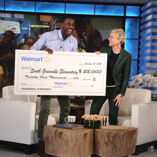 Ellen DeGeneres Surprises Inspiring Teacher Michael Bonner