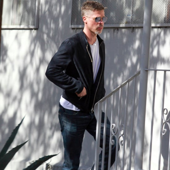 Brad Pitt Leaving Art Studio in LA March 2017