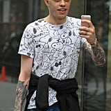 Pete Davidson Talks About Covering Ariana Grande Tattoos