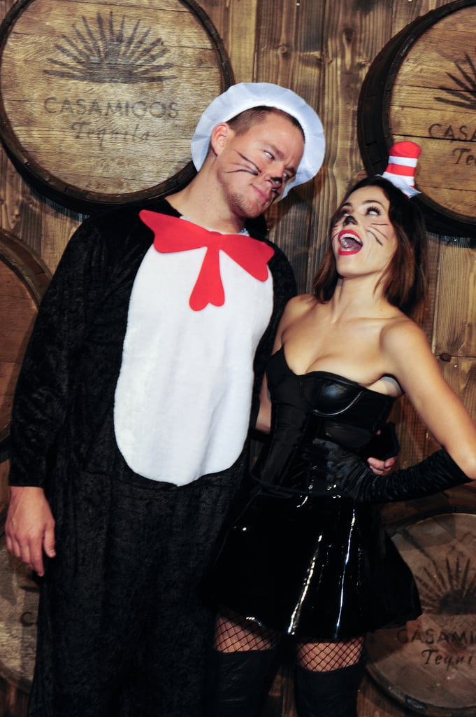 Channing and Jenna dressed as the Cat in the Hat for Halloween in 2015 and attended the Casamigos Tequila party in LA.