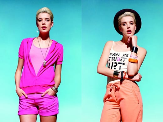Pictures of Agyness Deyn for Uniqlo