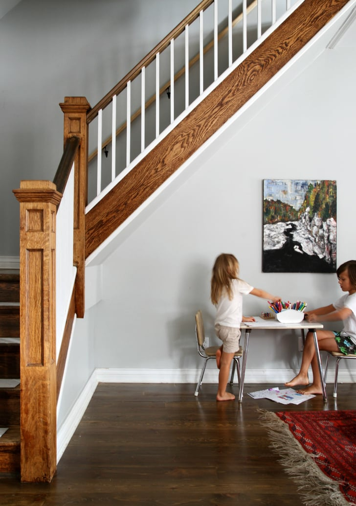 An Art Table Under The Stairs Kid Friendly Design