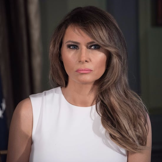 Melania Trump Wearing a White Dress