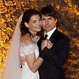 Tom Cruise and Katie Holmes shared a sweet wedding photo after their Nov. 18, 2006 wedding.