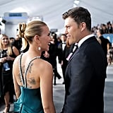 Scarlett Johansson and Colin Jost at the 2020 SAG Awards