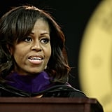 Michelle gave her second commencement speech of the year.