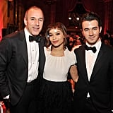 Matt Lauer, Zoe Kravitz, and Kevin Jonas met up at NYC's Snowflake ball.