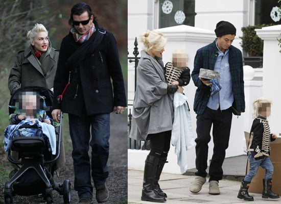 Photos of Gwen Stefani and Gavin Rossdale and Kids Over Christmas