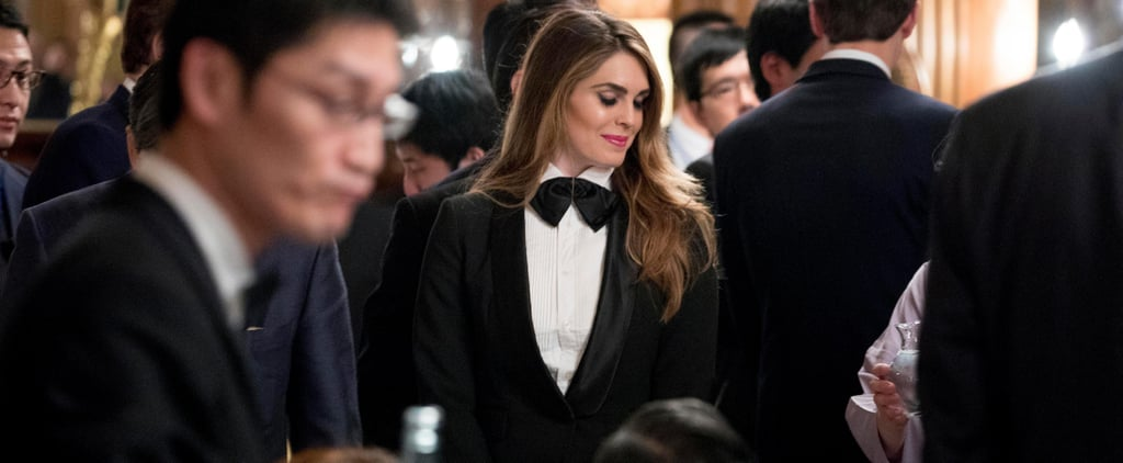Hope Hicks's Most Memorable White House Moment Might Just Be This Sharp Tuxedo