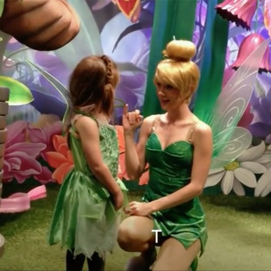 Deaf Girl Reacting to Tinkerbell Signing