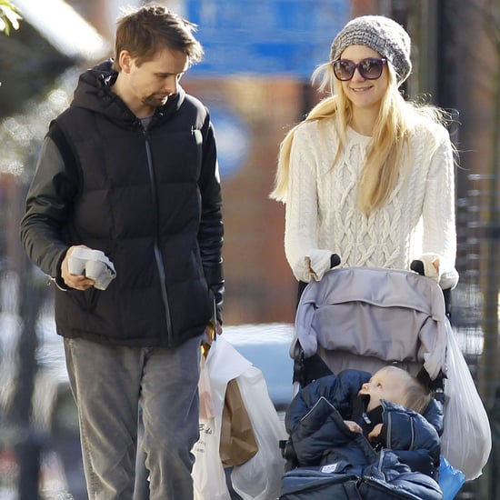 Kate Hudson and Matthew Bellamy Take Son Bing to the Market