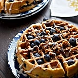 Blueberry Muffin Waffles With Cinnamon Streusel and Vanilla Glaze
