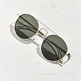 Urban Outfitters Squared Bridge Metal Round Sunglasses