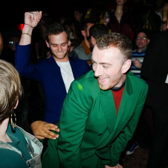Sam Smith and Brandon Flynn at the 2018 Grammys
