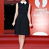Carey Mulligan wore a Miu Miu collared dress to the brand's film festival premiere.