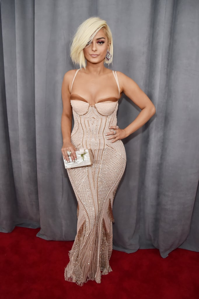 bebe rexha sexiest grammys dresses 2018 popsugar fashion photo 2