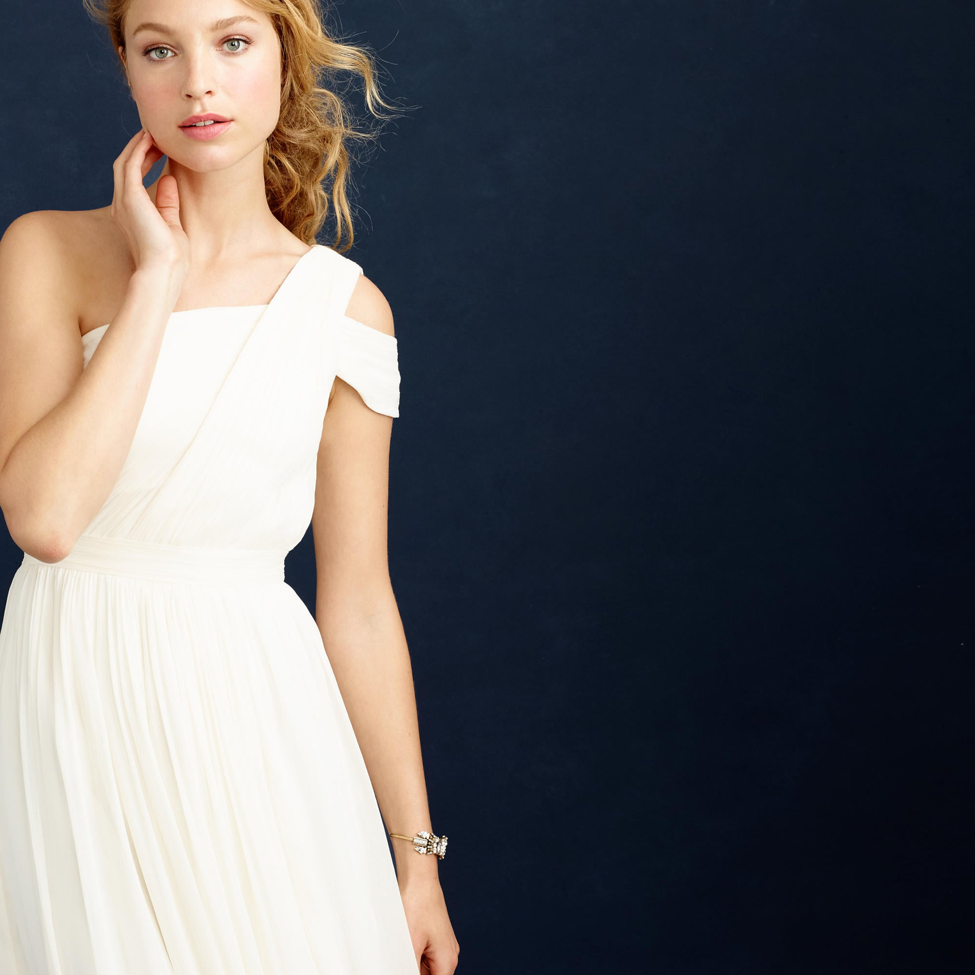 J.Crew Cara Gown ($595) | Wedding Dresses With Sleeves | POPSUGAR ...