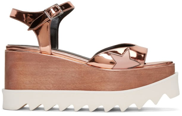 All eyes will be on you in Stella McCartney Copper Platform Star Elyse Sandals ($1,100).