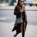 Keep It Casual With a Long Coat and Flats