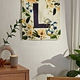 Monogram Floral Flag Tapestry