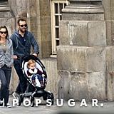 Natalie Portman toured Paris with her family.