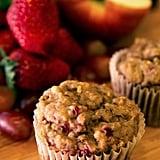 Vegan Banana Strawberry Apple Grape Muffins