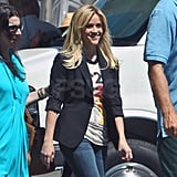 Reese Witherspoon supported SU2C by wearing one of their vivid graphics shirts.